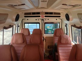 Tempo traveller inside view