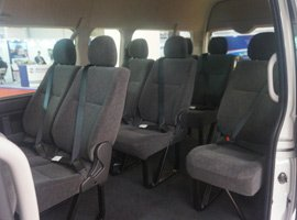 tempo traveller seats view